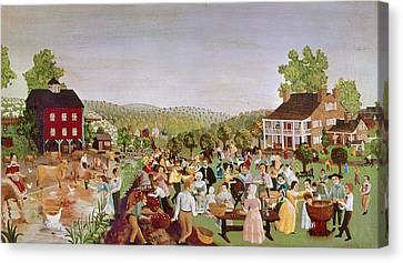 Carousel House Canvas Print - Country Festival, 1853 by Granger