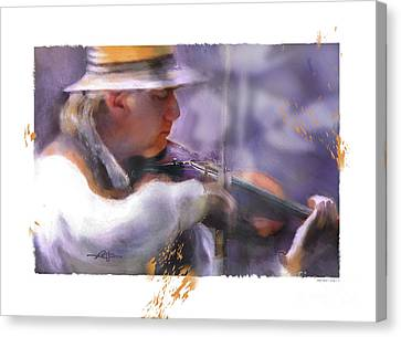 Country Fiddler Canvas Print by Bob Salo