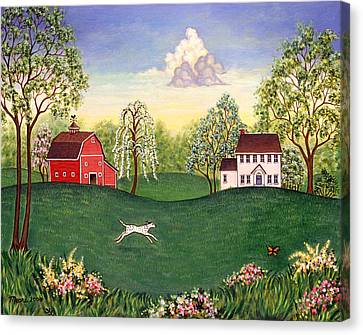Country Frolic One Canvas Print by Linda Mears