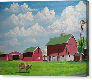 Country Home Canvas Print by Norm Starks