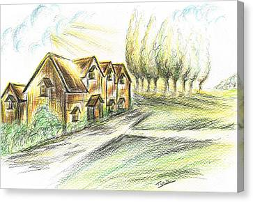 Country Home Canvas Print by Teresa White