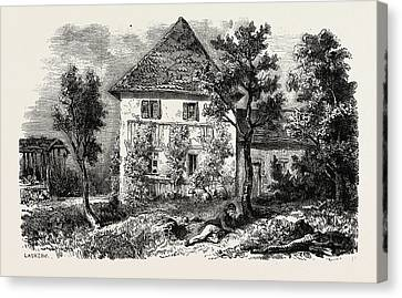 Country House In Lechwitz Canvas Print