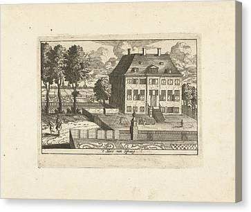 Country House With Falconer, Cornelis Elandts Canvas Print by Cornelis Elandts