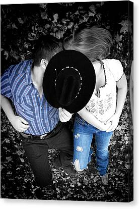 Country Kissin Canvas Print
