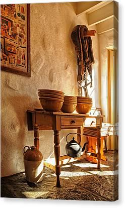 Irish Country Kitchen Canvas Print by Barbara Budzinski