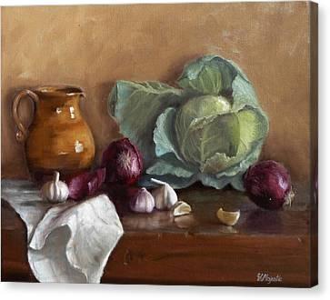 Country Kitchen Canvas Print by Viktoria K Majestic
