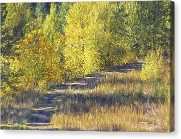 Country Lane Digital Oil Painting Canvas Print