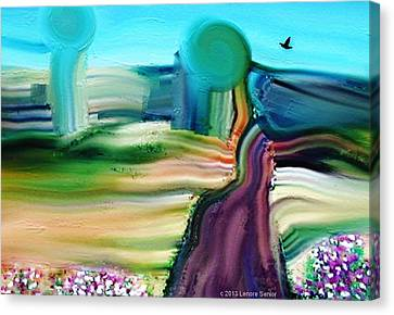 Country Lane Canvas Print by Lenore Senior