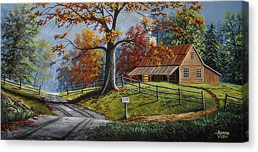 Country Life Canvas Print by Gary Adams