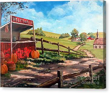 Country Life Canvas Print by Lee Piper
