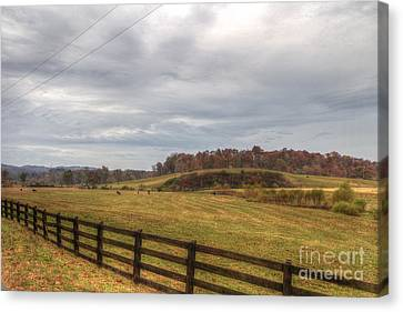 Hdr Landscape Canvas Print - Country Life by Sherri Duncan