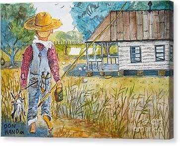 Country Living Canvas Print by Don Hand