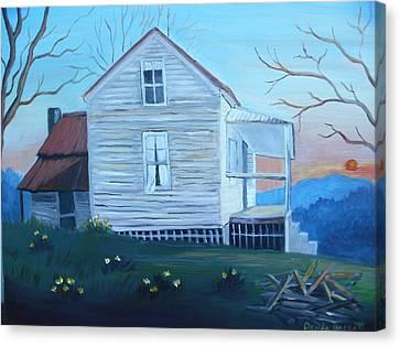 Country Living Canvas Print by Glenda Barrett