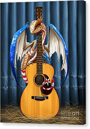 Country Music Dragon Canvas Print