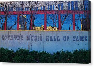 Country Music Hall Of Fame Canvas Print by Dan Sproul