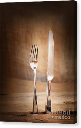 Country Place Setting. Canvas Print