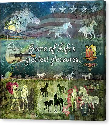 Country Pleasures Canvas Print by Evie Cook