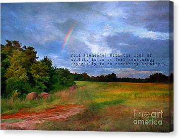 Country Rainbow Canvas Print by Darren Fisher