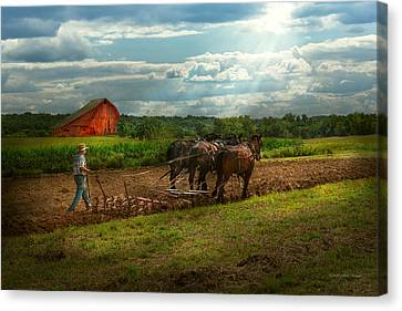 Country - Ringoes Nj - Preparing For Crops Canvas Print by Mike Savad