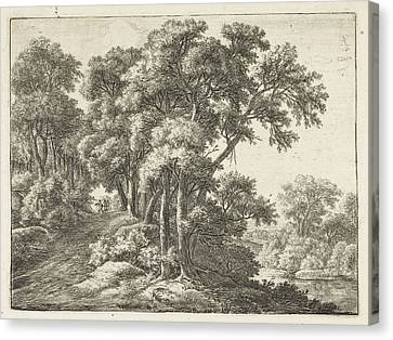 Country Roads Canvas Print - Country Road Along A River, Anthonie Waterloo by Anthonie Waterloo