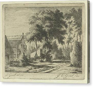 Country Road At A Farm, Jacobus Cornelis Gaal Canvas Print by Jacobus Cornelis Gaal