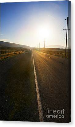 Country Road At Sunset Canvas Print by Stella Levi