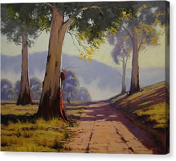 Kangaroo Canvas Print - Country Road Australia by Graham Gercken