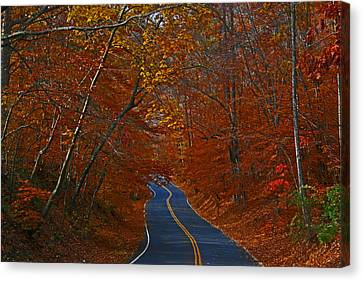 Canvas Print featuring the photograph Country Road by Andy Lawless