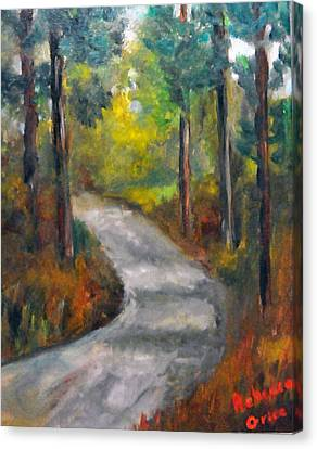 Country Road Canvas Print by Rebecca Grice
