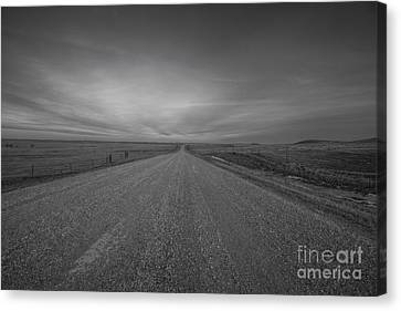 A Country Road Of South Dakota Canvas Print