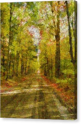 Country Road Take Me Home Canvas Print by Dan Sproul