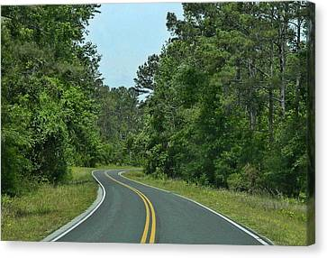 Canvas Print featuring the photograph Country Road by Victor Montgomery