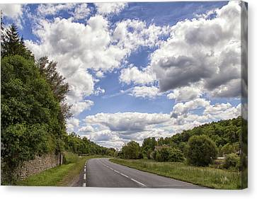 Country Roads Canvas Print by Georgia Fowler