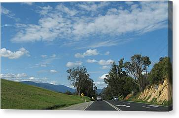 Country Roads Canvas Print by Joyce Woodhouse