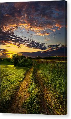Country Roads Take Me Home Canvas Print by Phil Koch
