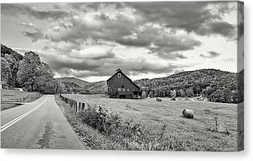 Country Road...west Virginia Bw Canvas Print by Steve Harrington