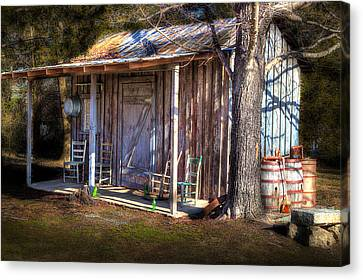 Country Shed Canvas Print by Michael Eingle