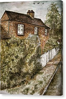 Old English Cottage Canvas Print by Teresa White