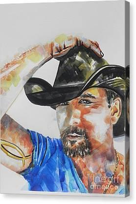 Country Singer Tim Mcgraw 02 Canvas Print by Chrisann Ellis