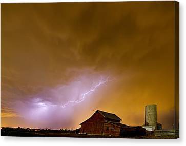 Country Spring Storm Canvas Print by James BO  Insogna