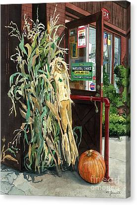 Canvas Print featuring the painting Country Store by Barbara Jewell