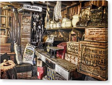 Country Store Supplies Canvas Print by Ken Smith