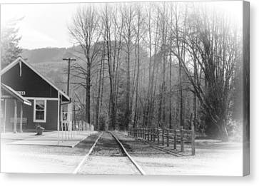 Canvas Print featuring the photograph Country Train Depot by Tikvah's Hope