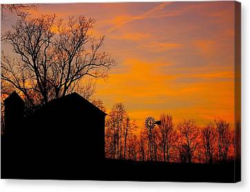 Canvas Print featuring the photograph Country View by Randy Pollard