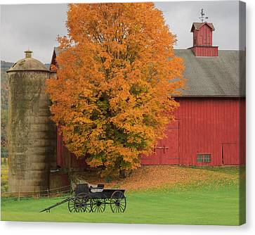Autumn Landscape Canvas Print - Country Wagon by Bill Wakeley