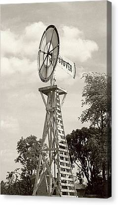 Country Windmill Canvas Print by Ellen O'Reilly