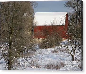Country Winter Canvas Print by Ann Horn