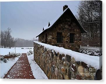 Country Winter Landscape  Canvas Print