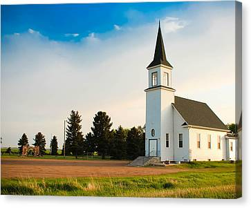 Countryside Church Canvas Print