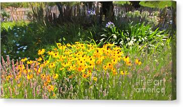 Countryside Cottage Garden 5d24560 Long Canvas Print by Wingsdomain Art and Photography
